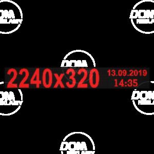 Рухомий рядок LED DR 2240/320 (червоний)