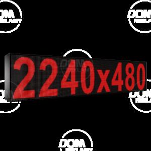 Рухомий рядок LED DR 2240/480 (червоний)