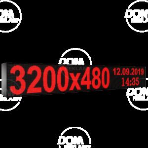 Рухомий рядок LED DR 3200/480(червоний)