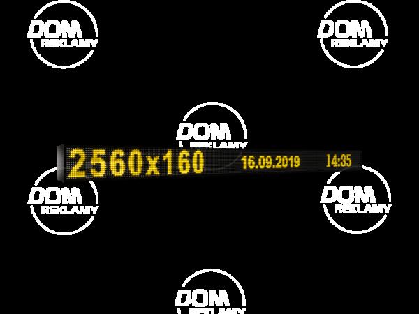 Рухомий рядок LED DR 2560/160 (синій, жовтий, білий, зелений)