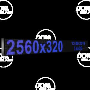 Рухомий рядок LED DR 2560/320 (синій, жовтий, білий, зелений)