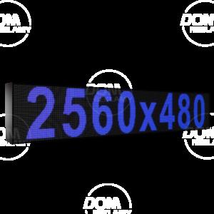 Рухомий рядок LED DR 2560/480 (синій, жовтий, білий, зелений)