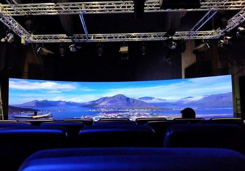 Led-екран радіальної форми для студії телебачення м.Дніпро