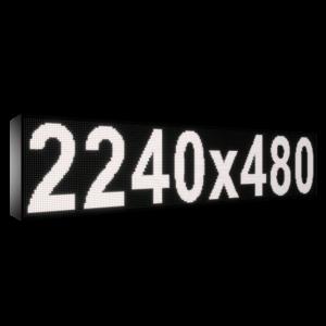 Рухомий рядок LED DR 2240/480 (синій, жовтий, білий, зелений) - Бiлий