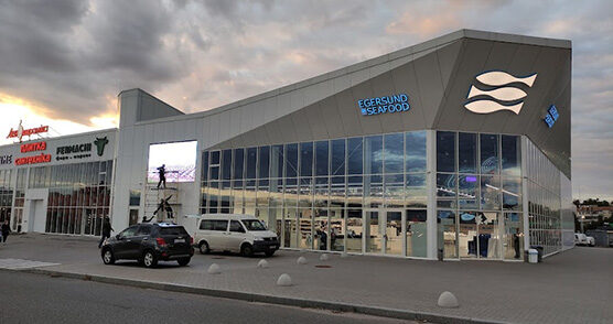 Led-екран для рыбного магазина Egersund Seafood